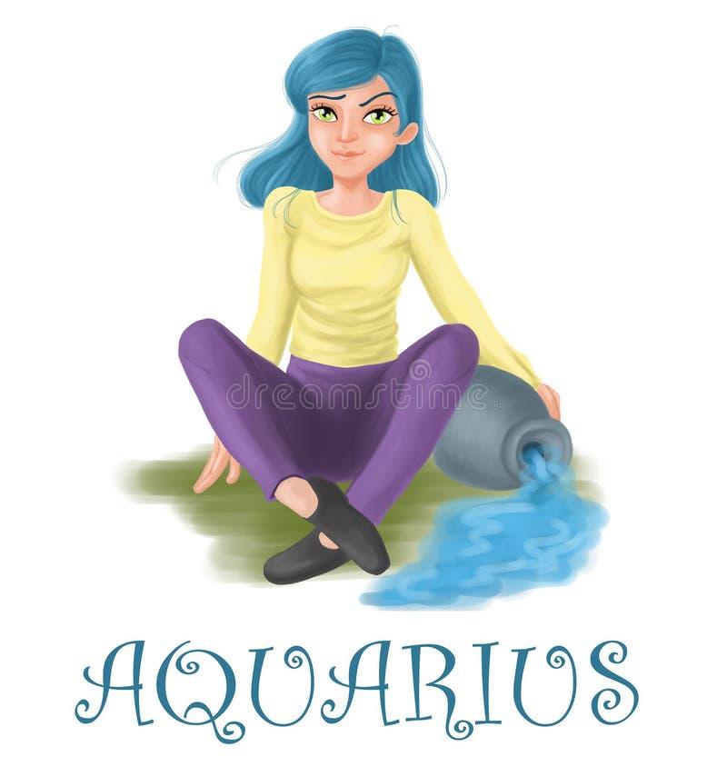 Der Horoskop Wassermann vektor abbildung