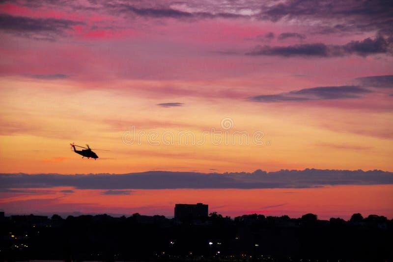 Der Hudson-Sonnenuntergang lizenzfreie stockfotos