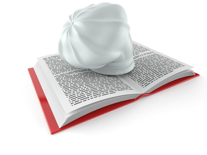 Der Hut des Chefs auf offenem Buch vektor abbildung