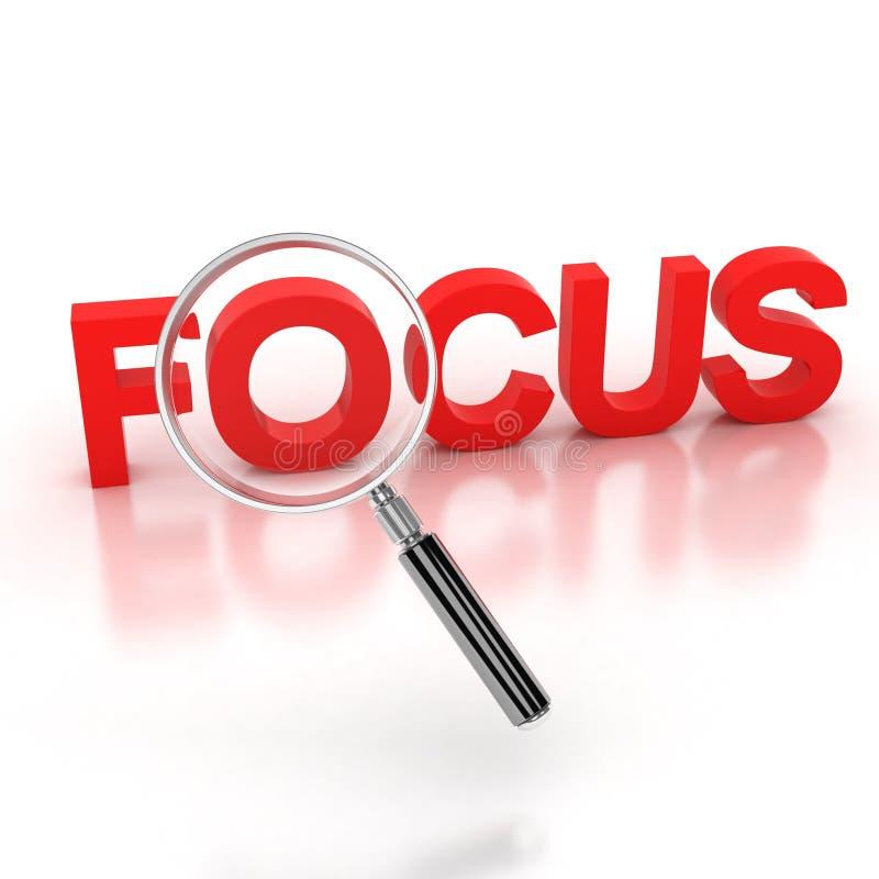 In der Ikone des Fokus 3d vektor abbildung