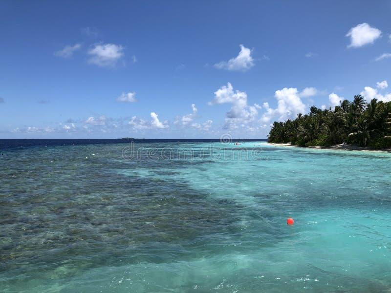 Der Indische Ozean in Malediven lizenzfreies stockfoto