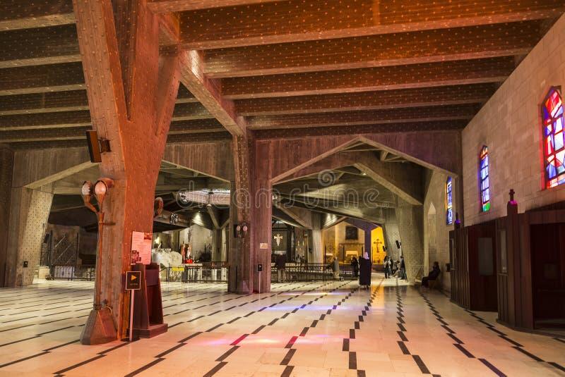 Der Innenraum der Basilika der Ankündigung nebraska stockbilder