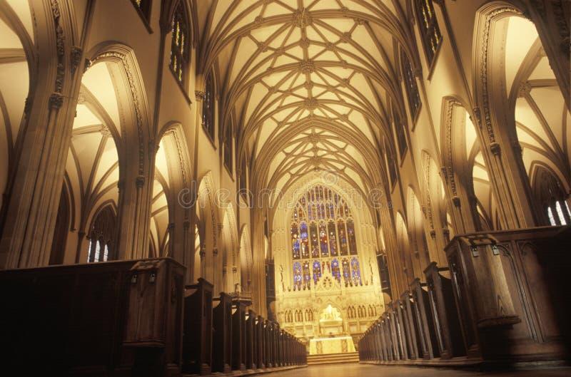 Der Innenraum der Dreifaltigkeitskirche auf Wall Street in New York City New York lizenzfreie stockfotos