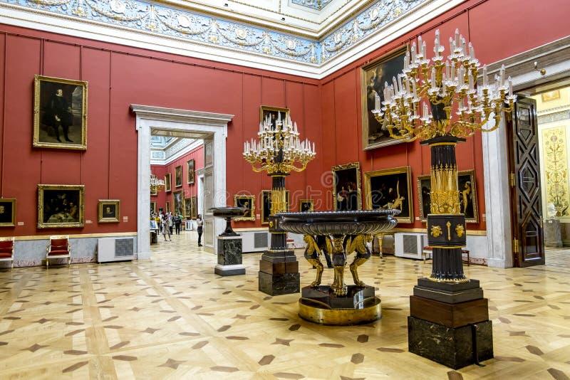 Der Innenraum der Halle der italienischen Malereien von der Einsiedlerei I stockfotografie