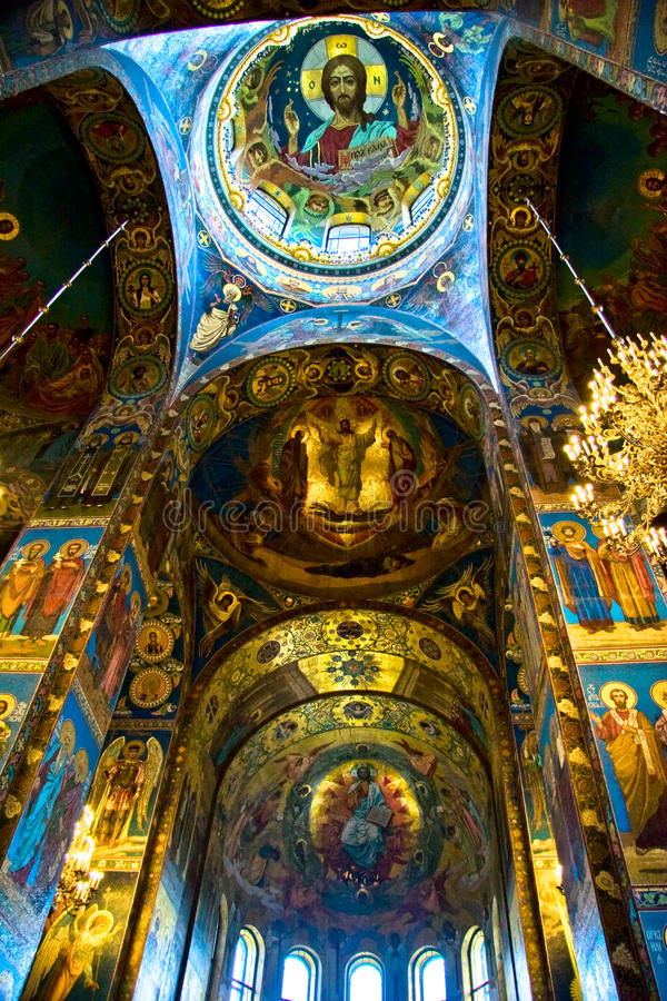 Der Innenraum der Kirche lizenzfreie stockfotos
