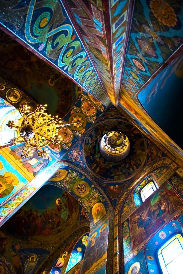 Der Innenraum der Kirche stockbilder