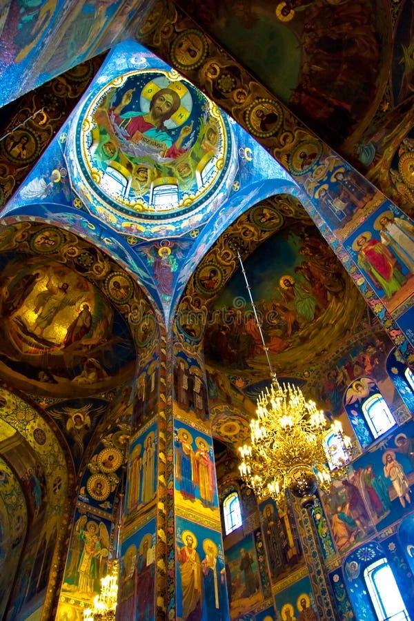 Der Innenraum der Kirche lizenzfreies stockfoto