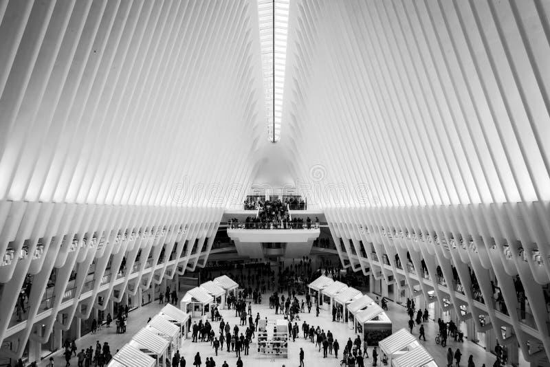 Der Innenraum des Oculus, am World Trade Center im Lower Manhattan, New York City stockbild