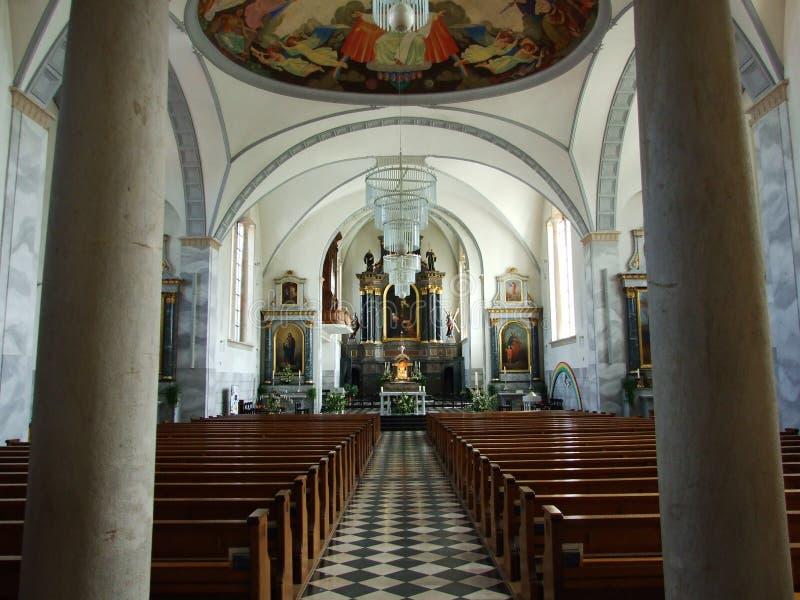 Der Innenraum der großen Kirche in der Stadt von Gossau lizenzfreie stockfotografie
