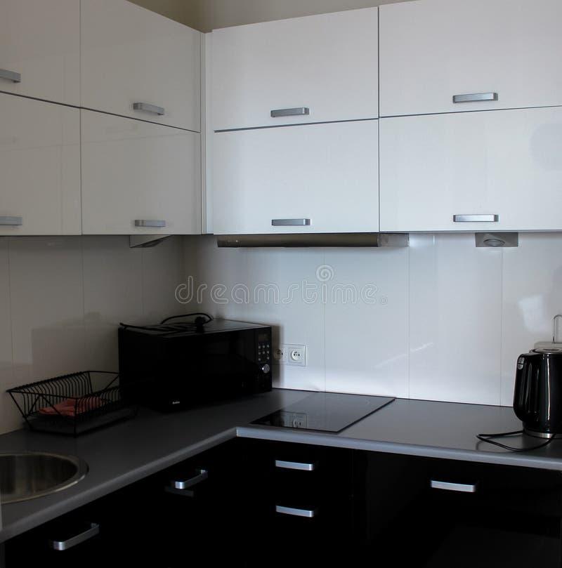 Der Innenraum der Küche lizenzfreies stockbild