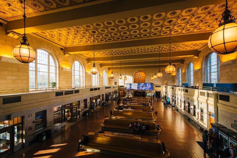 Der Innenraum der Verbands-Station in New-Haven, Connecticut stockbilder