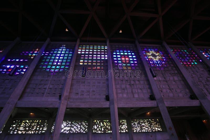 Der Innenraum von Heiliges Remy-Kirche im Bakkarat lizenzfreie stockbilder