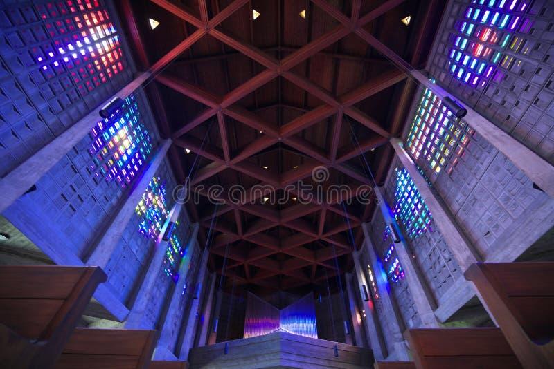 Der Innenraum von Heiliges Remy-Kirche im Bakkarat lizenzfreie stockfotos