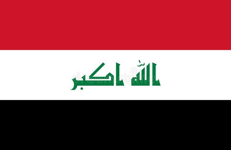 Der Irak der Flagge stock abbildung
