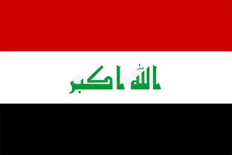 Der Irak-Markierungsfahne stock abbildung
