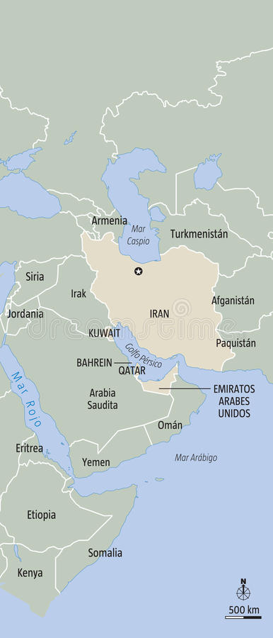 Der Iran stock abbildung