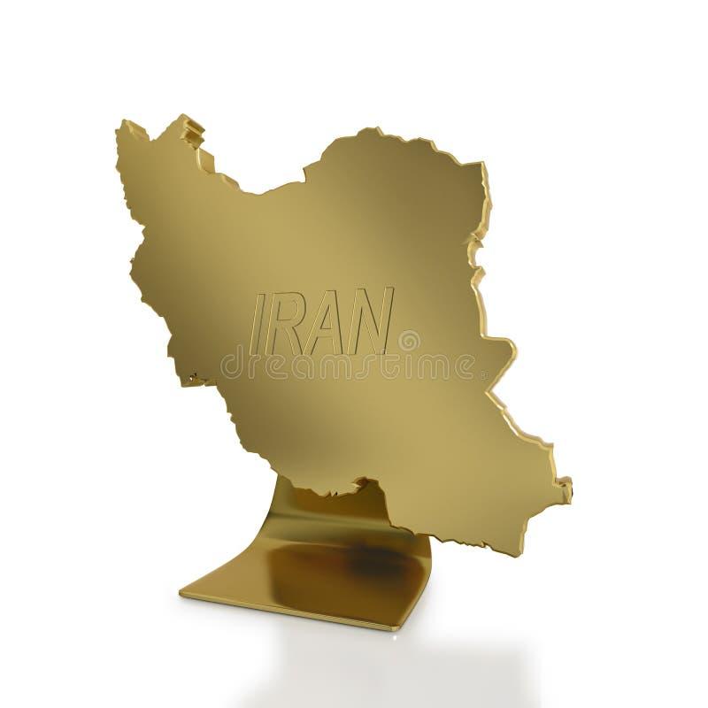 Der Iran als Symbol der Erdöl produzierend Nationen vektor abbildung