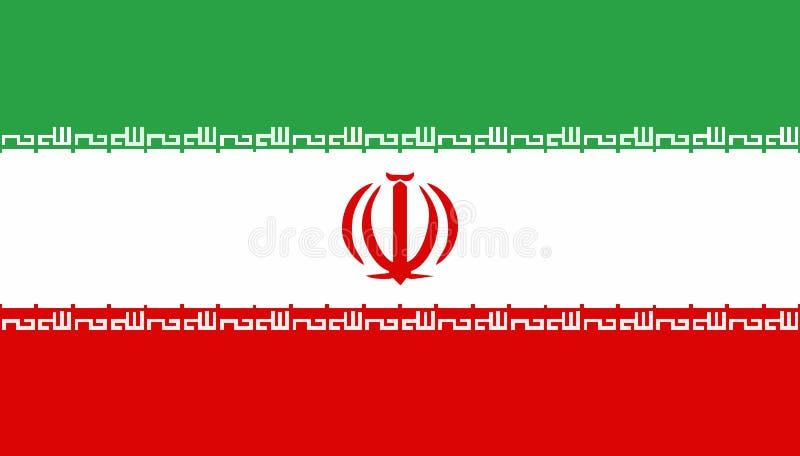 Der Iran-Markierungsfahne stock abbildung