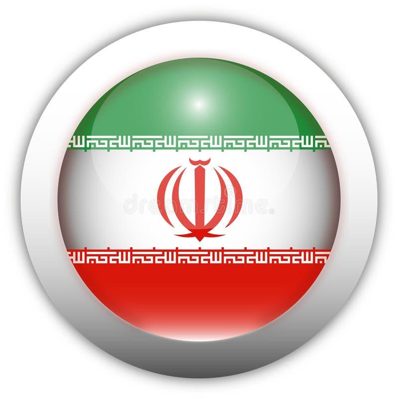 Der Iran-Markierungsfahnen-Aqua-Taste lizenzfreie abbildung