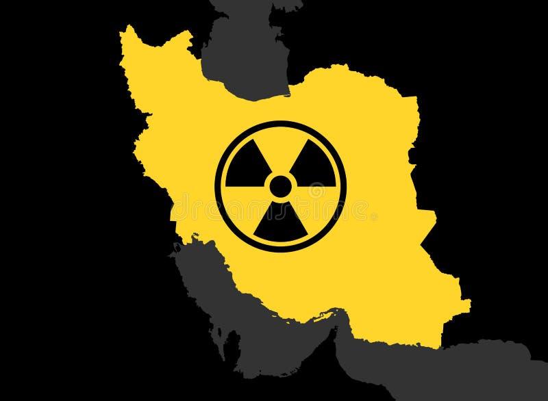 Der Iran und Kernkraft stock abbildung