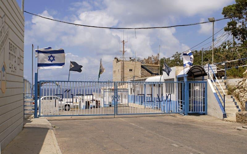 Der Israel-Libanon Rand stockfotografie