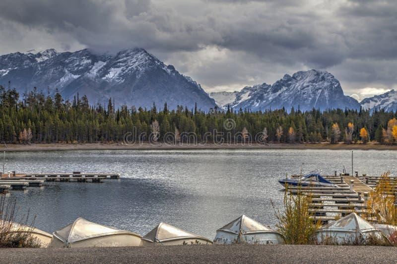 Der Jachthafen an Yellowstone-Feiertag lizenzfreie stockfotos
