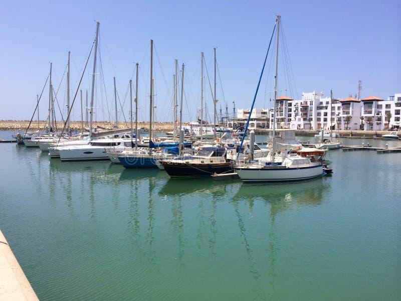 Der Jachthafenhafen in Agadir stockfotografie