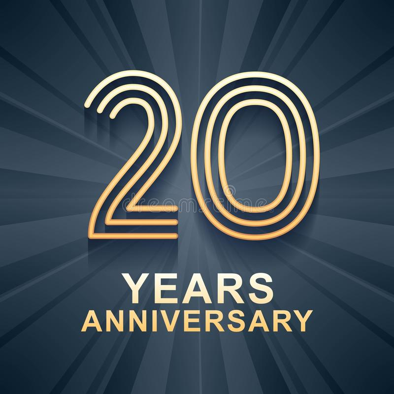 20 der Jahrestagsfeiervektor-Jahre Ikone, Logo lizenzfreie abbildung