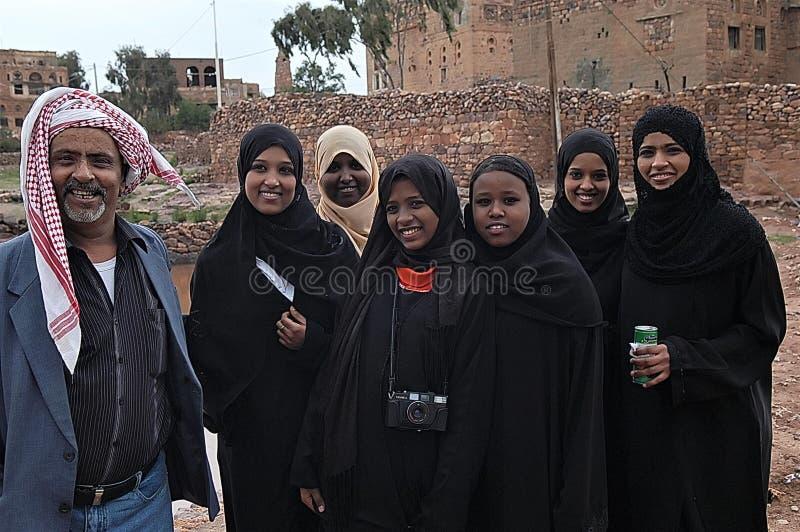 Der Jemen, Amran-Dorf stockbilder