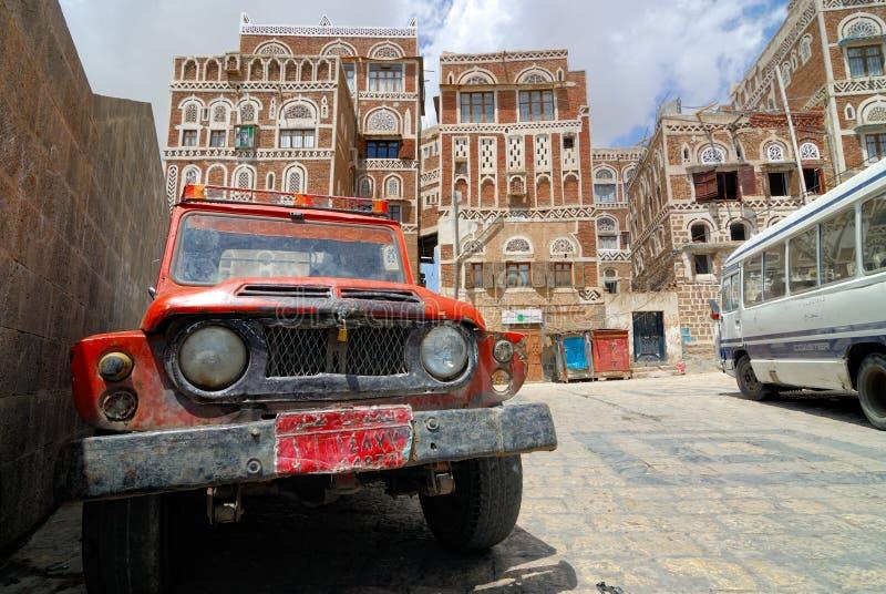 Der Jemen, Saana lizenzfreies stockbild