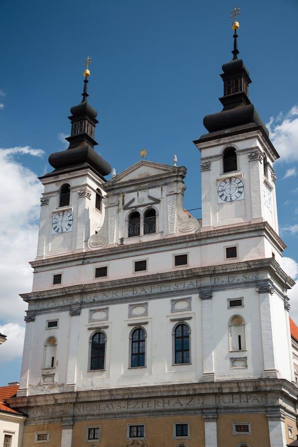 Der Johannes die Baptistkathedrale in Trnava, Slowakei lizenzfreies stockfoto