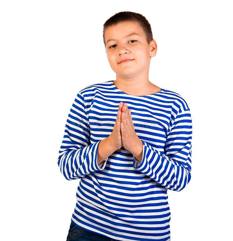 Der Junge, den der Jugendliche lokalisierte lizenzfreies stockfoto
