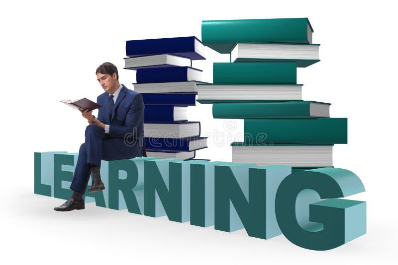 Der junge Geschäftsmann im Bildungskonzept stock abbildung