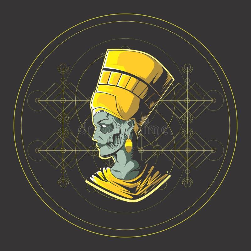 Der König von Ägypten lizenzfreie abbildung