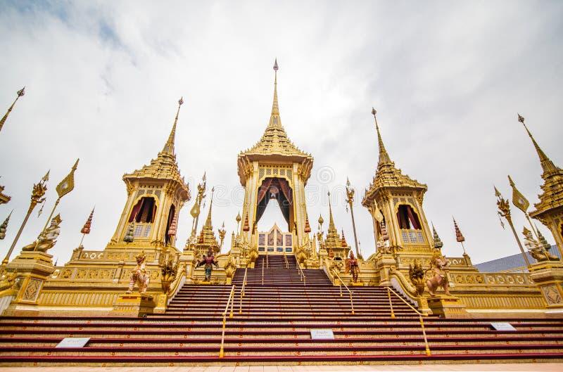 Der königliche Begräbnis- Scheiterhaufen König Rama der 9. von Thailand lizenzfreie stockfotografie