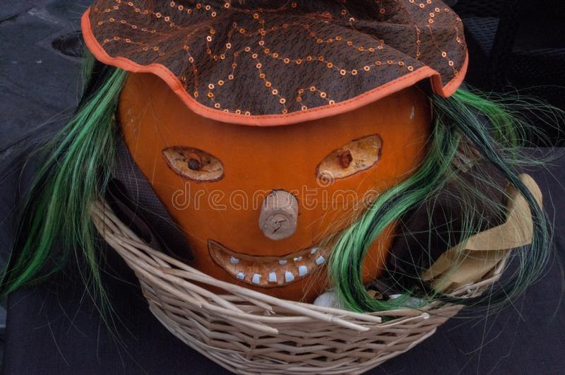 Der Kürbis für Halloween-Nacht lizenzfreie stockbilder