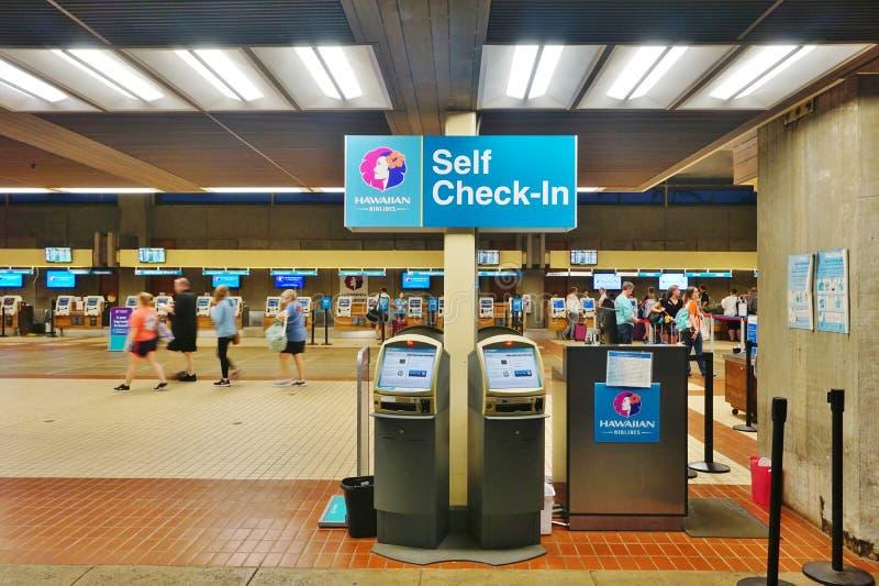 Der Kahului-Flughafen (OGG) in Maui, Hawaii lizenzfreies stockbild