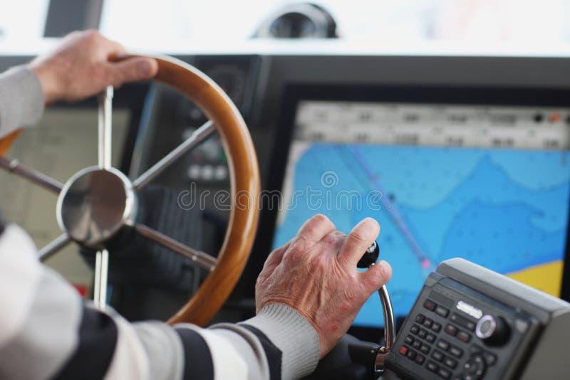 Der Kapitän stockbilder