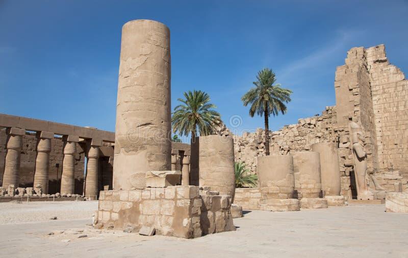 Der Karnak-Tempel-Komplex in Luxor, Ägypten lizenzfreies stockbild