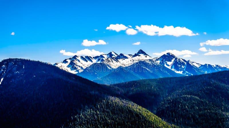 Der Kaskaden-Gebirgszug in BC Kanada stockbild