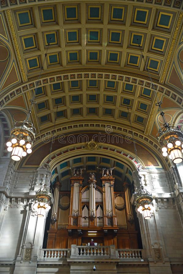 Der Kelvingrove Art Gallery und Museums-Mitte Hall Organ lizenzfreies stockfoto