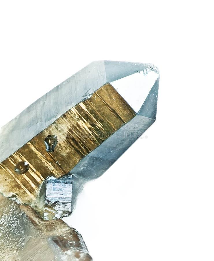 Der Kieselkristall stockfoto