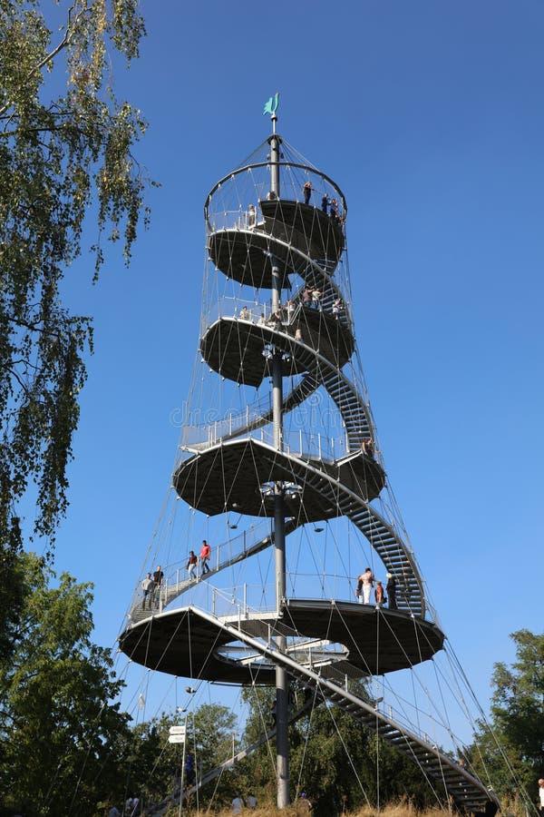 Der Killesberg-Turm in Stuttgart deutschland stockfotografie