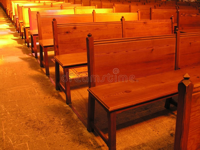 In der Kirche? lizenzfreies stockbild
