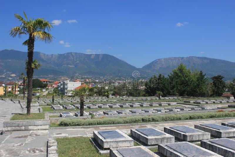 Der Kirchhof des Märtyrers in Tirana, Albanien lizenzfreie stockfotografie