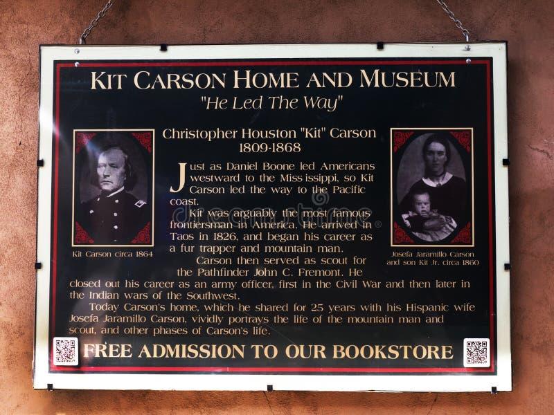 Der Kirchhof in Taos, in dem Soldat und Pionier Kit Carson und seine Nachkommen im New Mexiko USA interred stockfoto
