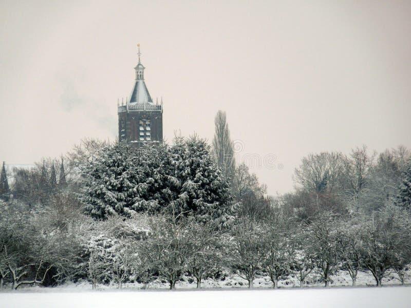 Der Kirchturm in Vianen, die Niederlande lizenzfreies stockbild