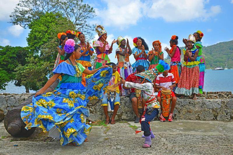 Der Kongo-Tanz in Portobelo, Panama stockfoto