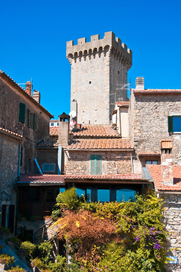 Der Kontrollturm von Capalbio stockfoto