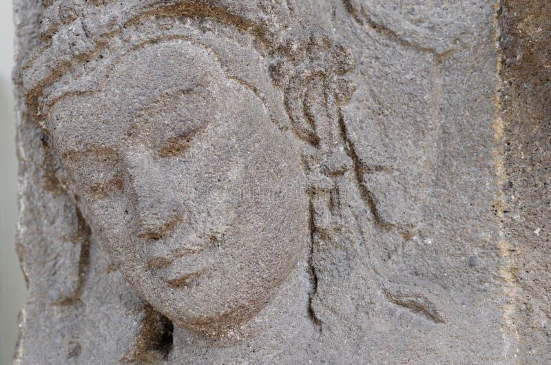 Der Kopf von Devi Relief lizenzfreie stockbilder